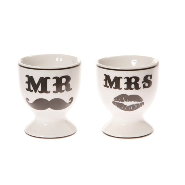 "Ceramic Egg Cups ""Mr & Mrs"" - A Pinch of Love Gifts"