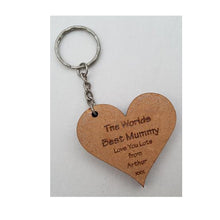 Load image into Gallery viewer, World's Best Mummy keyring - A Pinch of Love Gifts