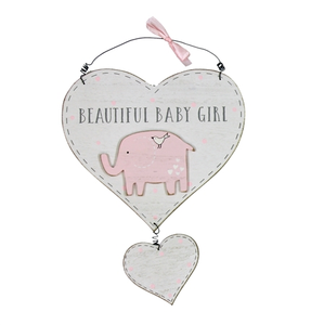 Baby Girl Heart Plaque