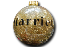 Load image into Gallery viewer, Personalised Gold Tinsel Bauble - A Pinch of Love Gifts