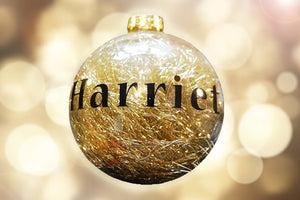 Personalised Gold Tinsel Bauble - A Pinch of Love Gifts