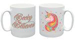Believe in Unicorns Personalised Mug - A Pinch of Love Gifts