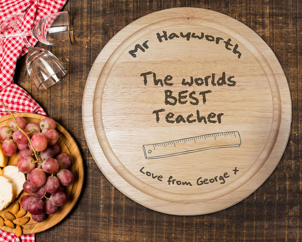 Copy of World's Best Teacher Chopping Board - A Pinch of Love Gifts