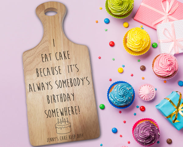 "Engraved ""Cake"" Chopping Board - A Pinch of Love Gifts"