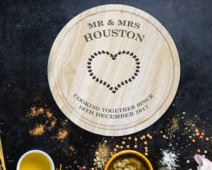 Cooking together Personalised Chopping Board - A Pinch of Love Gifts