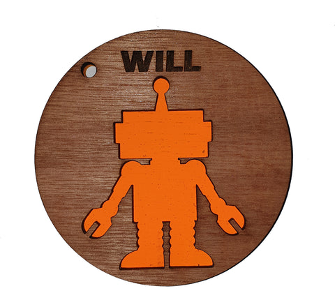 Book Bag Tag - Robot - A Pinch of Love Gifts