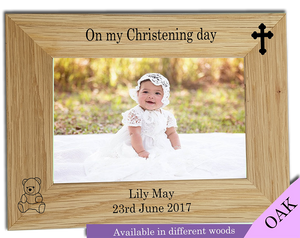 Personalised Christening Photo Frame