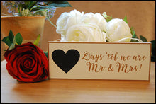 "Load image into Gallery viewer, Wooden Plaque ""Days Until Mr & Mrs"" - A Pinch of Love Gifts"