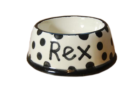 Hand Painted Personalised Ceramic Pet Bowl