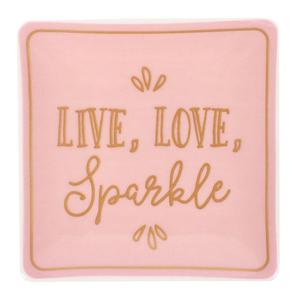 Live, Love & Sparkle Jewellery Dish