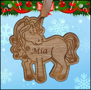 Christmas Tree Hanger - Unicorn - A Pinch of Love Gifts