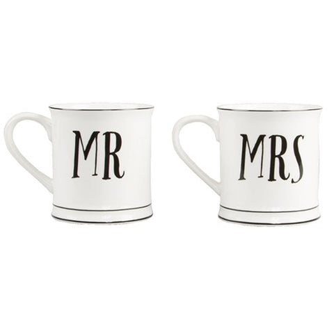 "Ceramic Mugs ""Mr & Mrs"""
