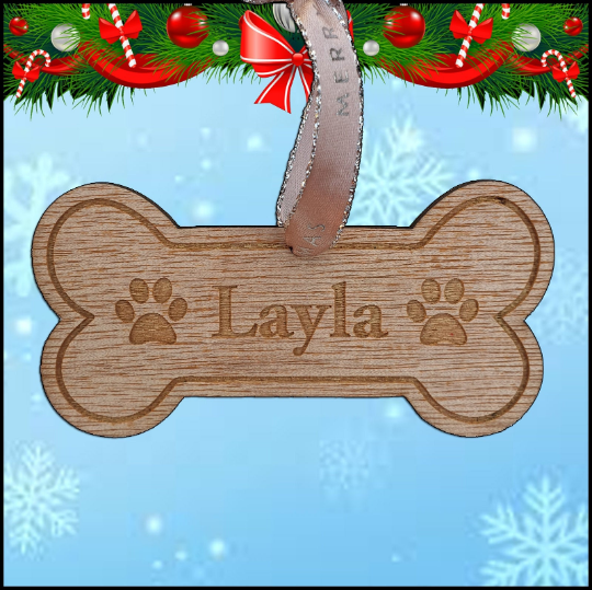 Christmas Tree Hanger - Dog Bone - A Pinch of Love Gifts