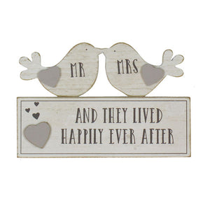 Mr & Mrs Happily Ever After Plaque - A Pinch of Love Gifts