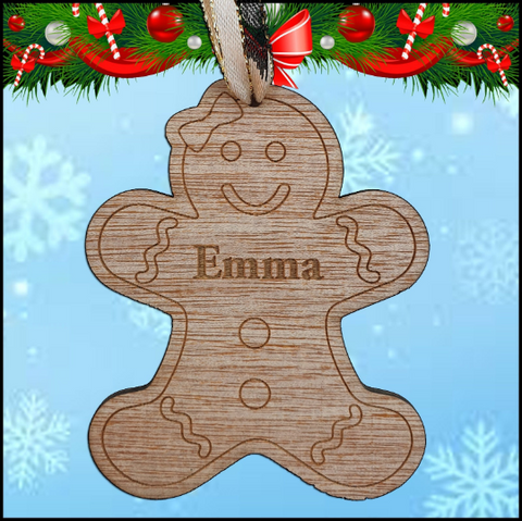 Christmas Tree Hanger - Gingerbread Woman - A Pinch of Love Gifts