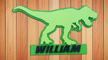 Load image into Gallery viewer, Dinosaur name plaque - A Pinch of Love Gifts