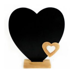 Heart-shaped chalkboard - A Pinch of Love Gifts