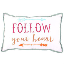 Load image into Gallery viewer, Follow Your Heart Cushion - A Pinch of Love Gifts