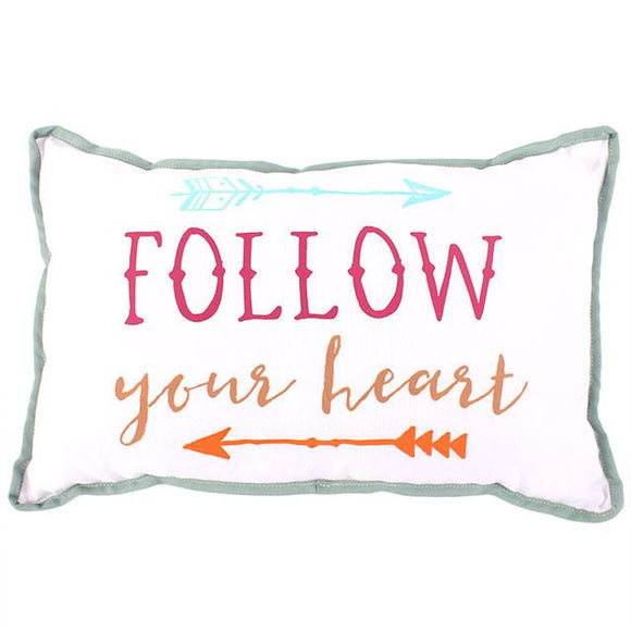 Follow Your Heart Cushion - A Pinch of Love Gifts
