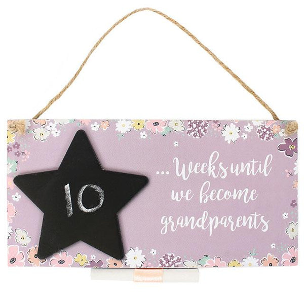 "Chalkboard Plaque ""Weeks until we're Grandparents"" - A Pinch of Love Gifts"