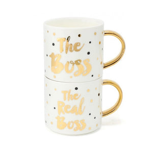 The Boss & Real Boss Mugs - A Pinch of Love Gifts