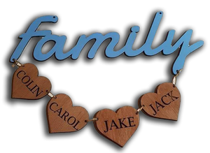 Personalised Family Hanging Decor
