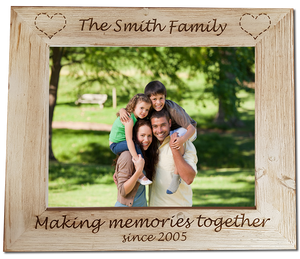 Family Personalised Engraved Photo Frame