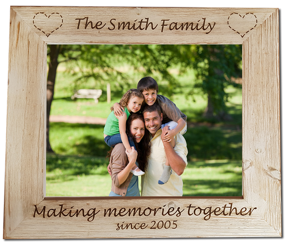 Family Personalised Engraved Photo Frame - A Pinch of Love Gifts