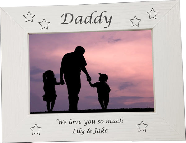 "Engraved ""Father's Day"" Personalised Engraved Photo Frame - A Pinch of Love Gifts"