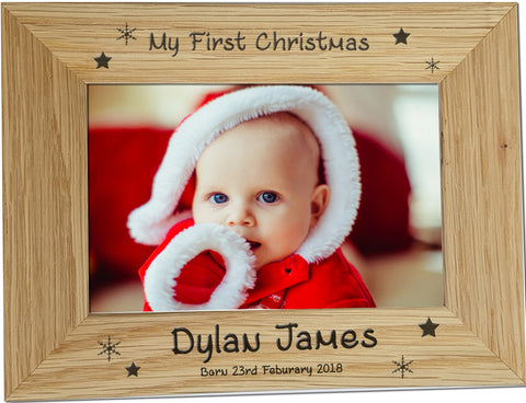 Personalised First Christmas Photo Frame