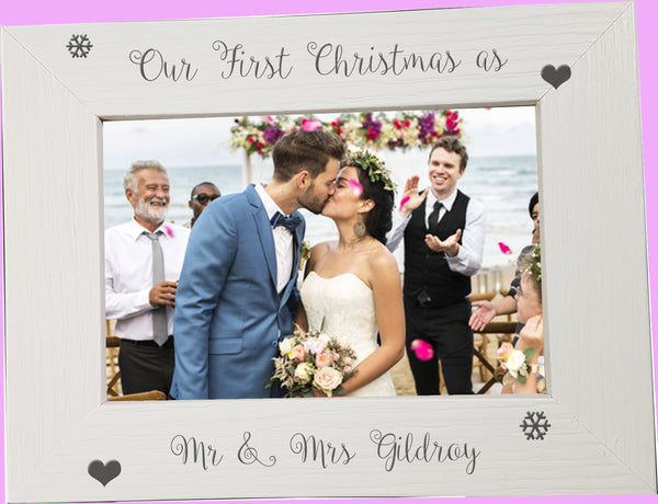 First Christmas Photo Frame Mr & Mrs - A Pinch of Love Gifts
