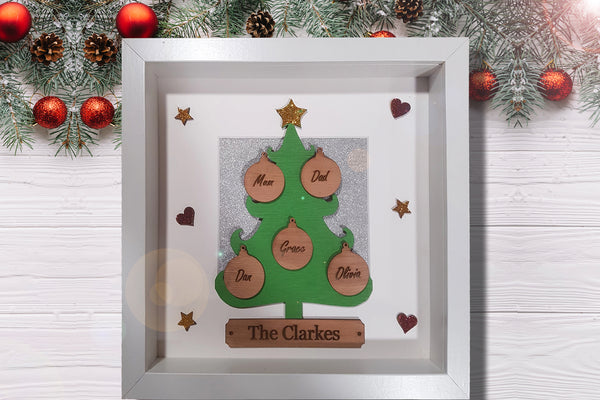Christmas Family Tree Box Frame - A Pinch of Love Gifts