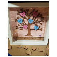 Load image into Gallery viewer, Personalised Family Tree Box Frame - A Pinch of Love Gifts