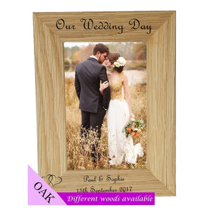Personalised Wedding Day Photo Frame - A Pinch of Love Gifts