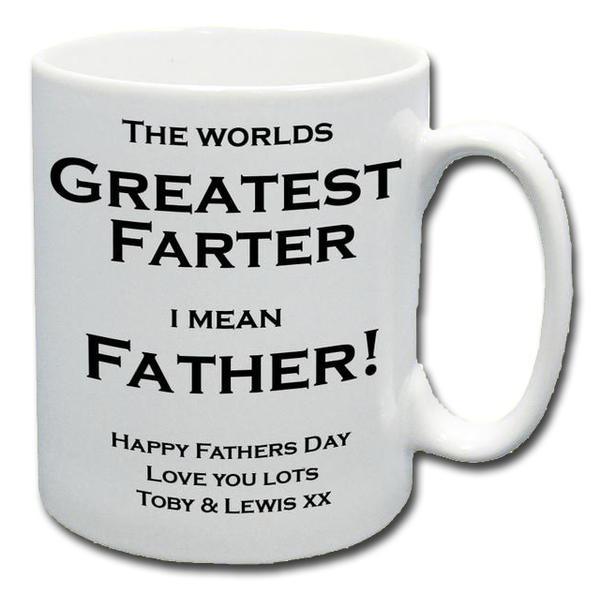 Farter's Day Personalised Mug - A Pinch of Love Gifts