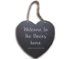 Heart shaped slate hanger - A Pinch of Love Gifts