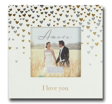 "Amore Little Hearts Photo Frame 4""x4"""