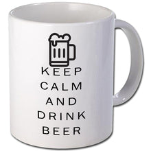 Load image into Gallery viewer, Keep calm and drink beer Personalised  Mug - A Pinch of Love Gifts