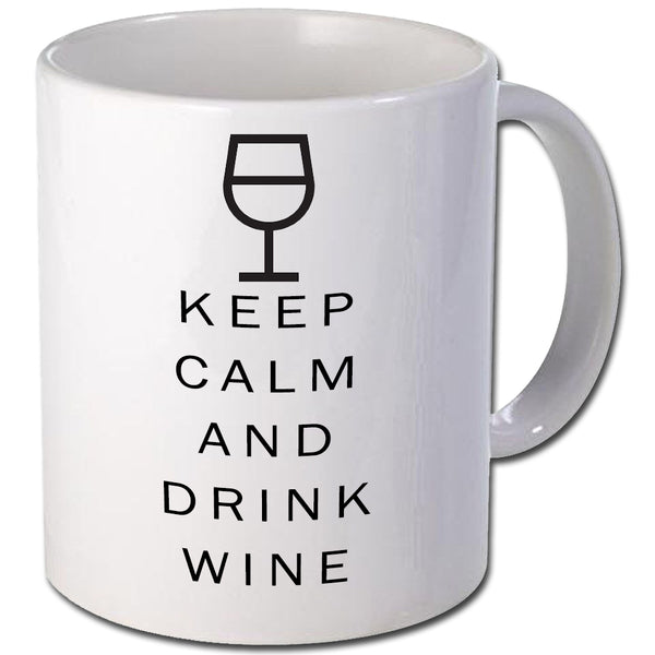 Keep calm and drink wine Personalised Mug - A Pinch of Love Gifts