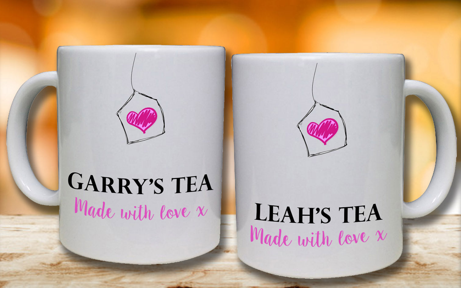 Made with Love Personalised Mugs - A Pinch of Love Gifts