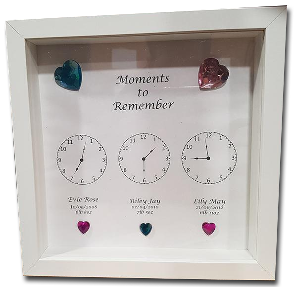 Moments to Remember Box Frame - A Pinch of Love Gifts