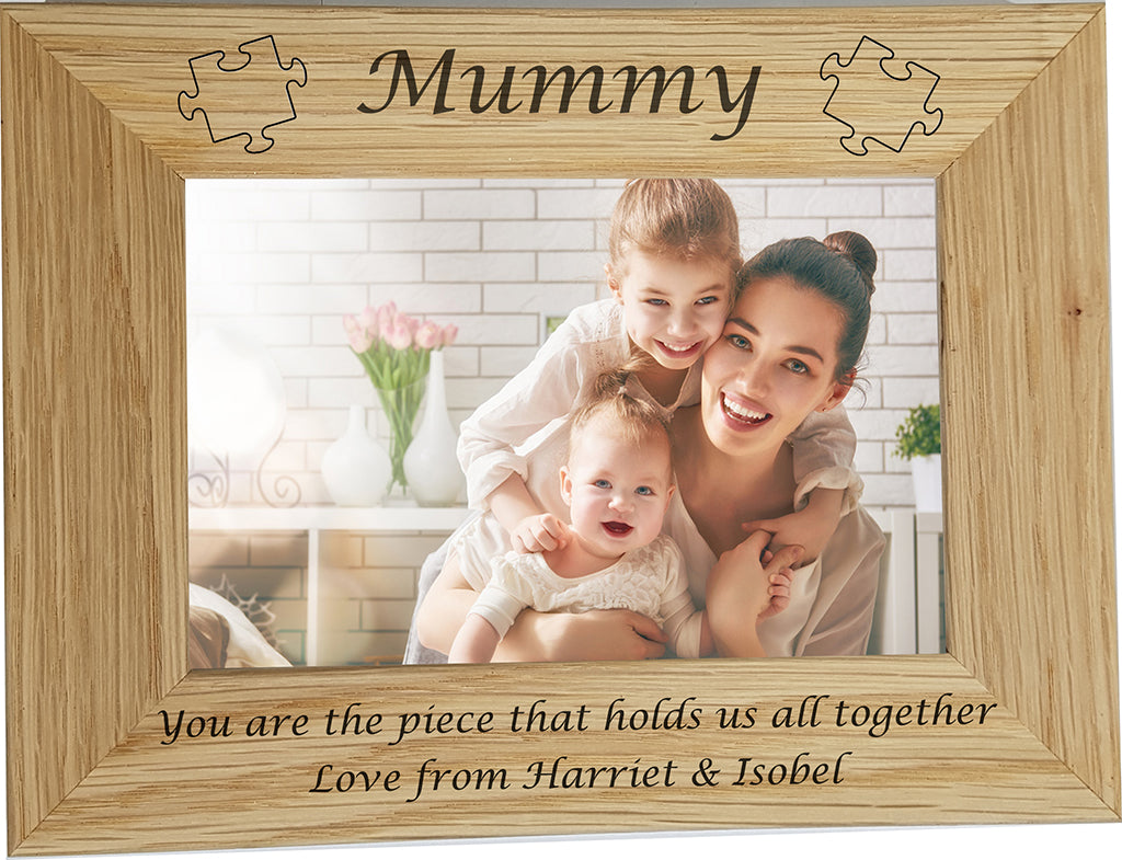 Mother's Day Jigsaw Photo Frame - A Pinch of Love Gifts
