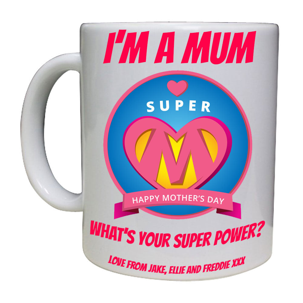 Super Mum Personalised Mug - A Pinch of Love Gifts