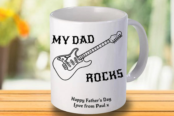 My Dad Rocks Personalised Mug - A Pinch of Love Gifts