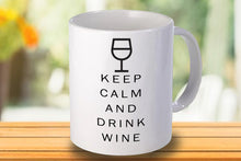 Load image into Gallery viewer, Keep calm and drink wine Personalised Mug - A Pinch of Love Gifts