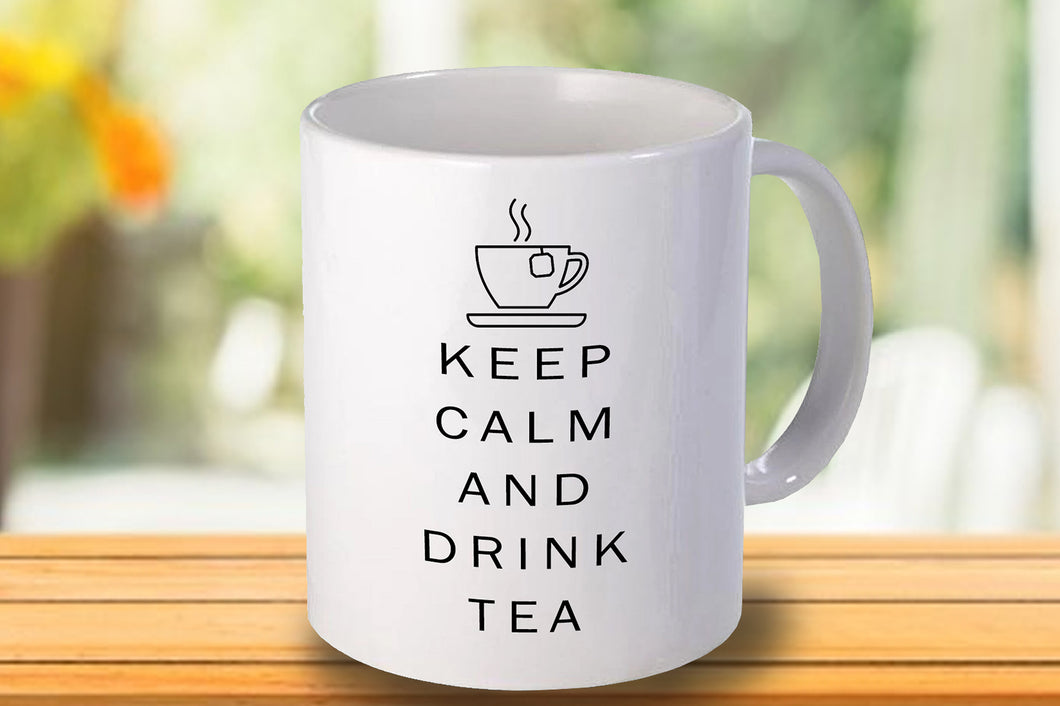 Keep calm and drink tea Personalised Mug - A Pinch of Love Gifts
