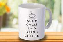 Load image into Gallery viewer, Keep calm and drink coffee Personalised Mug - A Pinch of Love Gifts