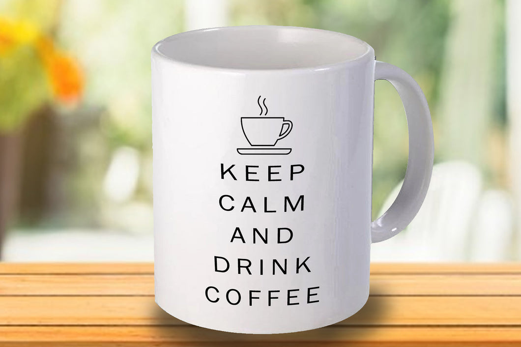 Keep calm and drink coffee Personalised Mug - A Pinch of Love Gifts