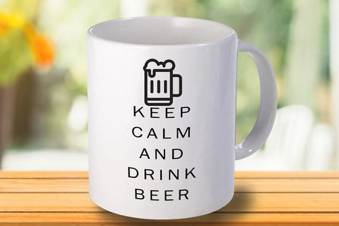 Keep calm and drink beer Personalised  Mug - A Pinch of Love Gifts
