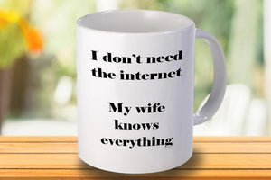 I don't need the internet Personalised Mug - A Pinch of Love Gifts